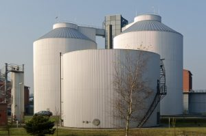Photo of a large outdoor storage tank