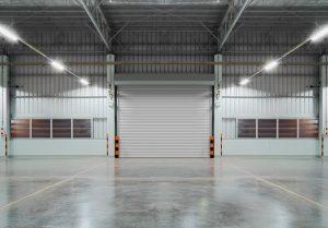 Concrete flooring inside factory