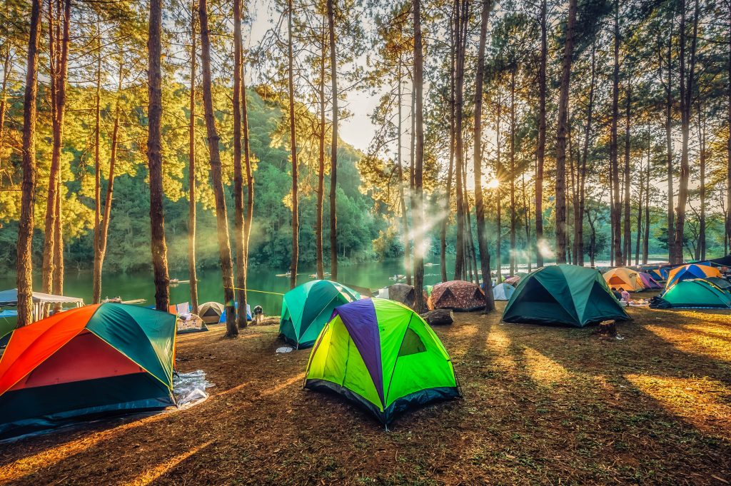 a couple of tents