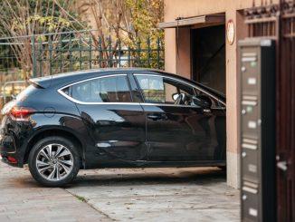 Car parked in a garage