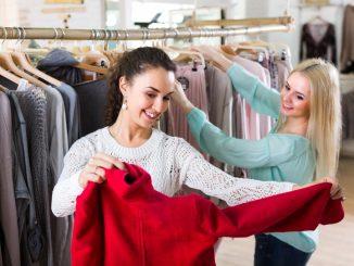 women shopping off season