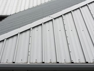 detail of metal roofing