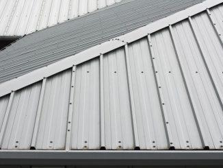 detail of metal roofing