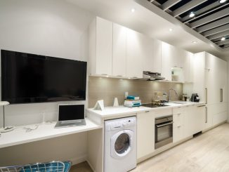 house in modern interior containing modern appliances