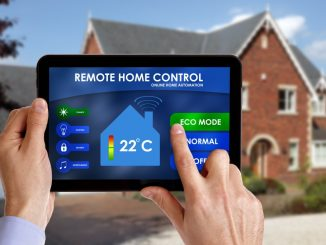 remote home control online home automation system on a digital tablet