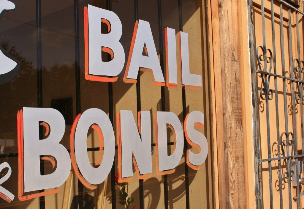 bail bonds signage outside an office