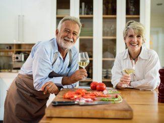 senior couple in their kitchen