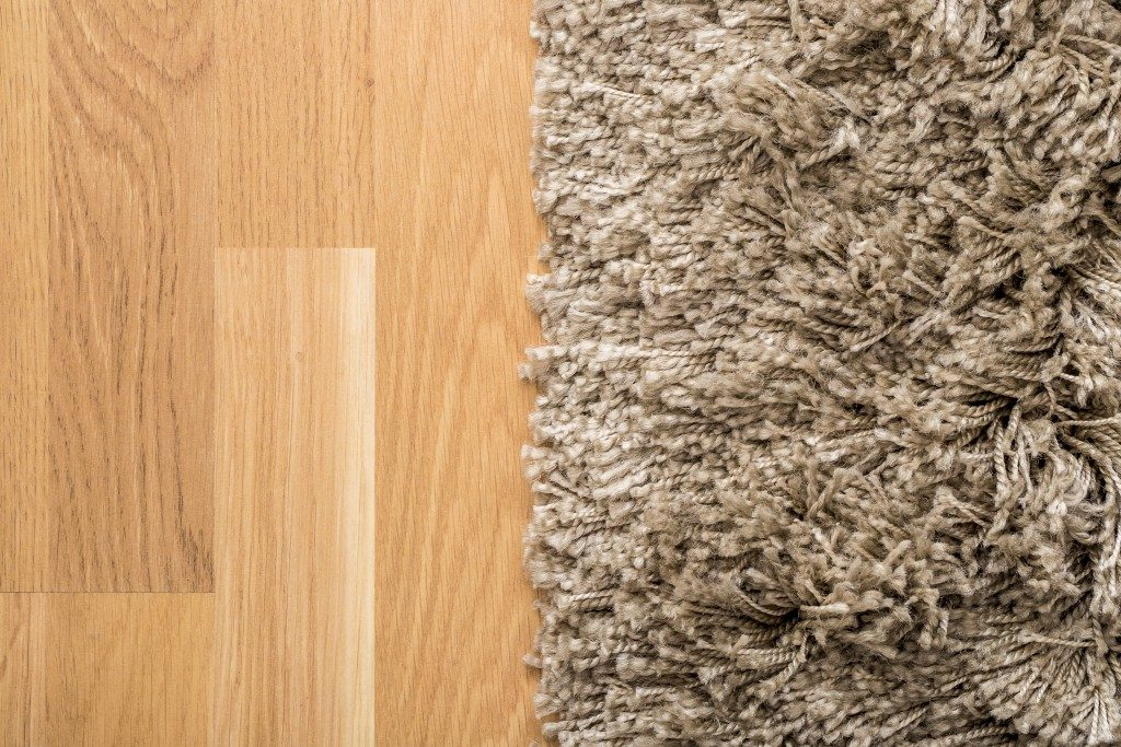 Fluffy Carpet On Laminate Floor