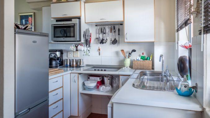 Kitchen with fridge