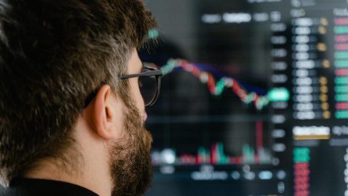 man checking stocks